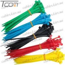Набор стяжек 100/2,5мм красный,жёлтый, зелёный, синий,чёрный (по 40шт.) в блистере, Profix