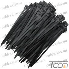 Стяжки с двойным захватом 260х9,0мм, чёрые, (100шт.), EMT
