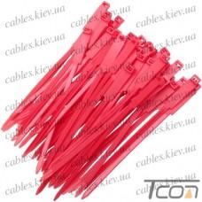 Стяжки с прямоугольной табличкой 175х5,5мм, красные, (50шт.), ProFix