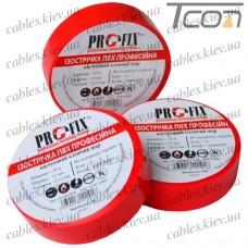 Изолента  электротехническая 0,13мм х 15мм, 10м красная, Profix