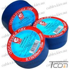 Изолента 0,13мм х 30мм, 25м, синяя, EMT