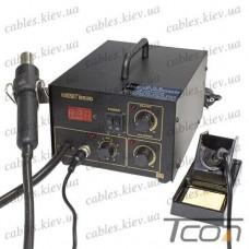 Паяльная станция цифровая с феном HandsKit 852D (EXtools 852D) (паяльник 50W, 200-480°С; фен 370W, 100-450°С)