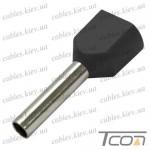 Кабельный наконечник трубчатый с изоляцией двойной 2х1,5кв.мм (100шт.) (ТЕ-1512), Tcom
