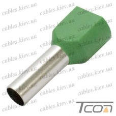 Кабельный наконечник трубчатый с изоляцией двойной 2х6,0кв.мм (100шт.) (TE-6014), Tcom