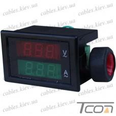 Вольтметр встраиваемый РМ85-2042 (напряжение и ток), Tcom